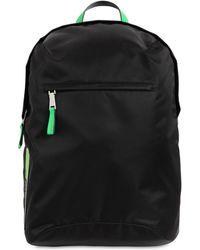 Prada - Rucksack Aus Leder Und Nylon Mit Logopatch - Lyst