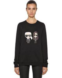Karl Lagerfeld - Karl And Kaia Print Cotton Sweatshirt - Lyst