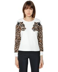 Vivetta - Leopard Patches Cotton Sweatshirt - Lyst