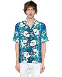 DSquared² - Hawaii Printed Viscose Bowling Shirt - Lyst