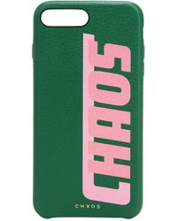 Chaos - Printed Leather Iphone 7/8 Plus Cover - Lyst