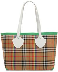 Burberry - Md Canvas Check Giant Tote - Lyst