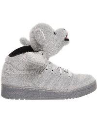 e24256a3622 Jeremy Scott for adidas - Bear Glitter Lamé High-Top Trainers - Lyst