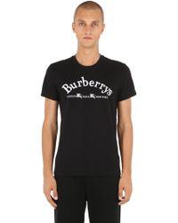 Burberry - Archive Logo Cotton T-shirt - Lyst