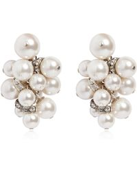 Lanvin - Imitation Pearl Cluster Earrings - Lyst