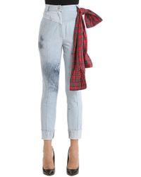 Ronald Van Der Kemp - Paint Splattered Bleached Denim Jeans - Lyst