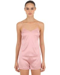 La Perla - Silk Satin Tank Top - Lyst