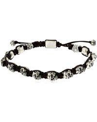 Cantini Mc Firenze - Skulls Silver Bracelet - Lyst
