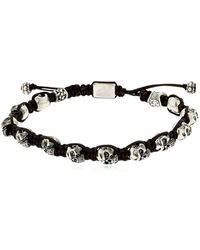 Cantini Mc Firenze | Skulls Silver Bracelet | Lyst