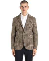 Tagliatore - Wool Houndstooth Jacket - Lyst