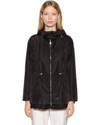 Moncler - Lotus Nylon Jacket W/ Embroidered Hem - Lyst