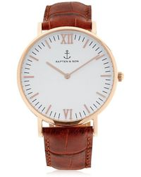 KAPTEN & SON - 40mm Embossed Leather Watch - Lyst