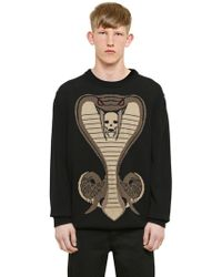 Givenchy - Cobra Jacquard Cotton Knit Jumper - Lyst