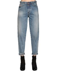DIESEL - Faded Cotton Denim Jeans - Lyst