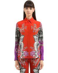 Roberto Cavalli | Gradient Printed Silk Shirt | Lyst