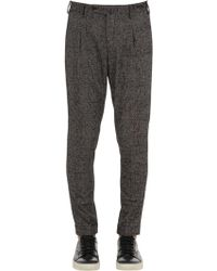 PT01 - Pantalones Preppy Fit De Lana Príncipe De Gales - Lyst