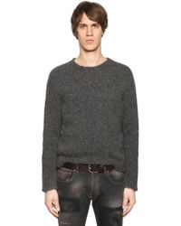 Etro - Alpaca & Wool Raw Hem Knit Jumper - Lyst