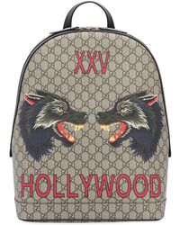 Gucci - Hollywood Print Gg Supreme Backpack - Lyst