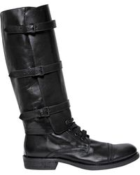 Ann Demeulemeester - 30mm Leather Boots W/ Detachable Shaft - Lyst