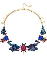 Halo - Colored Necklace W/ Swarovski Crystals - Lyst