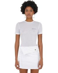 Jacquemus - T-shirt In Maglia Stretch - Lyst