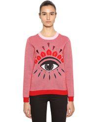 KENZO - Eye Embellished Wool Blend Sweater - Lyst