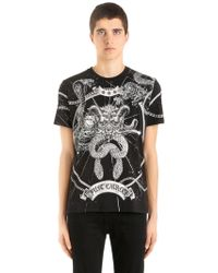 Just Cavalli - Universe Printed Cotton Jersey T-shirt - Lyst