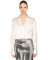 Ermanno Scervino - Patchwork Silk Satin & Lace Shirt - Lyst
