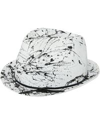 Move - Splatter Painted Woven Straw Hat - Lyst