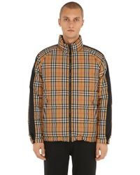 Burberry - Reversible Rainbow Check Puffer Jacket - Lyst