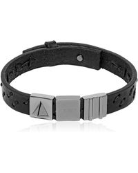 Northskull - Oka Laser-cut Leather Bracelet - Lyst