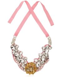 Ortys - Broche Light Gold Necklace - Lyst