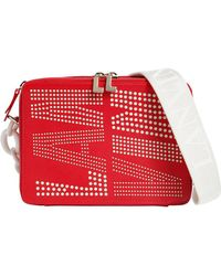 Lanvin - Perforated Logo Leather Camera Bag - Lyst