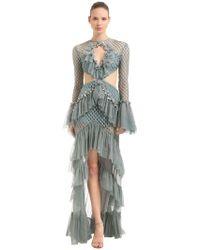 RAISA & VANESSA - Ruffled Cutout Dress - Lyst
