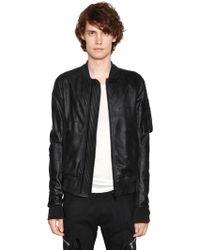 Rick Owens - Soft Waxed Leather Bomber Jacket - Lyst