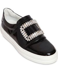 Roger Vivier - 25mm Sneaky Viv Patent Leather Sneakers - Lyst