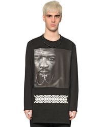D.GNAK - Face Printed Light Cotton Sweatshirt - Lyst