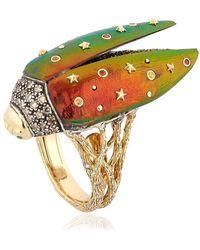 Scarab Fly yellow-gold ring Bibi van der Velden UA5l1LvWBu