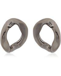 Pluma | Link Gunmetal Earrings | Lyst