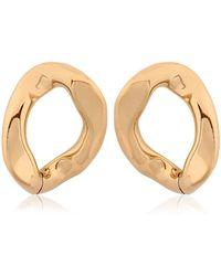 Pluma | Link Light Gold Earrings | Lyst