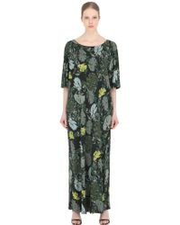 Larusmiani - Leaves Printed Viscose Jersey Dress - Lyst