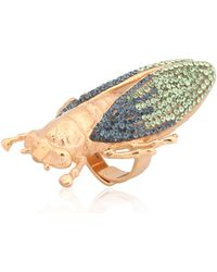 Vernissage Jewellery - Swarovski Crystals Imperial Moth Ring - Lyst