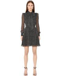 Diane von Furstenberg - Arabella Polka Dot Silk Chiffon Dress - Lyst