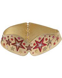Manish Arora - Stars Metallic Leather Corset Belt - Lyst