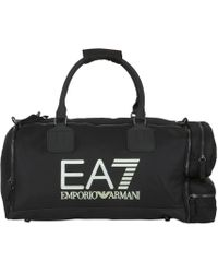 EA7 - 48l Logo Printed Nylon Canvas Duffle Bag - Lyst