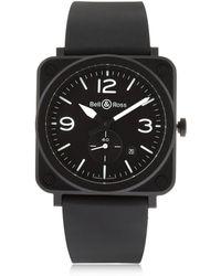 Bell & Ross - Brs Matte Black Ceramic Watch - Lyst