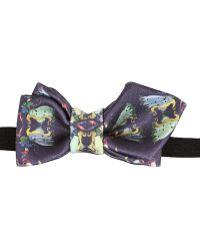 Christian Correnti - Printed Silk Bow Tie - Lyst