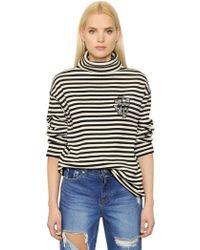 Steve J & Yoni P - Striped Cotton Turtleneck Sweater - Lyst