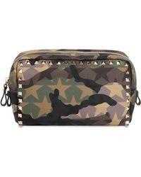 Valentino - Rockstud Camustars Nylon Make-up Bag - Lyst