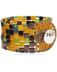 Ziio - Pixel Orange Beaded Bracelet - Lyst